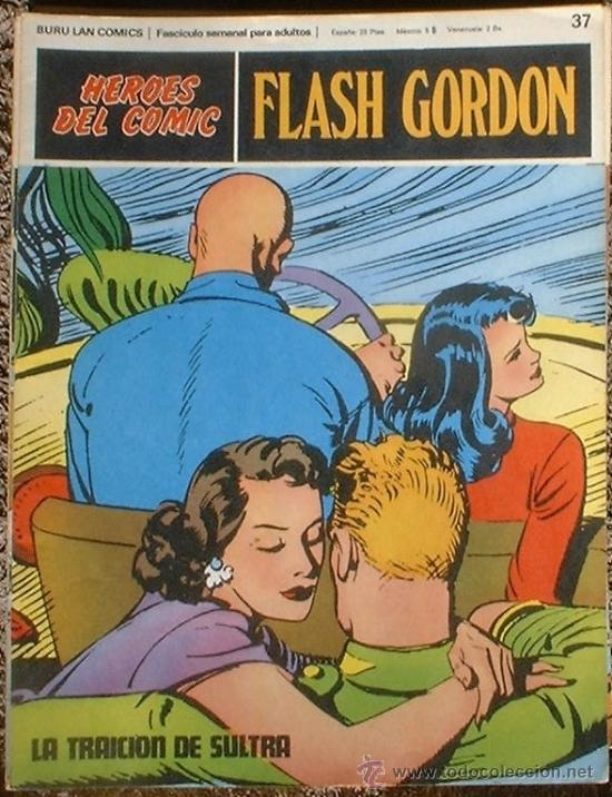 HEROES DEL COMIC - FLASH GORDON Nº 37 - LA TRAICIÓN DE SULTRA - BURU LAN COMICS 1972 (Tebeos y Comics - Buru-Lan - Flash Gordon)