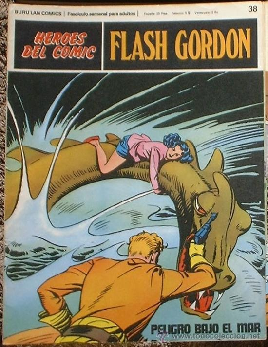 HEROES DEL COMIC - FLASH GORDON Nº 38 - PELIGRO BAJO EL MAR - BURU LAN COMICS 1972 (Tebeos y Comics - Buru-Lan - Flash Gordon)