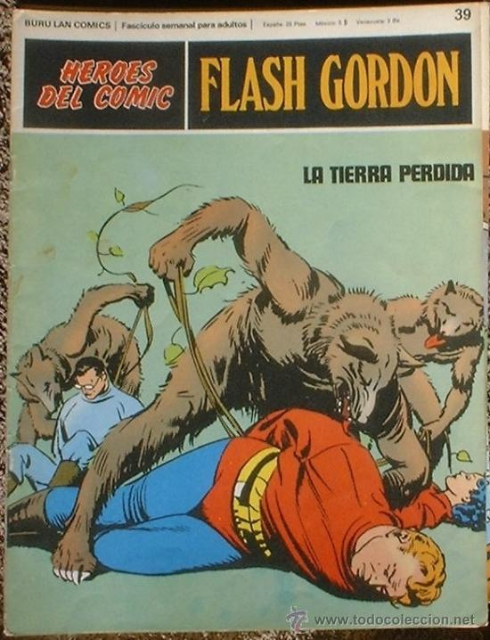 HEROES DEL COMIC - FLASH GORDON Nº 39 - LA TIERRA PERDIDA - BURU LAN COMICS 1972 (Tebeos y Comics - Buru-Lan - Flash Gordon)