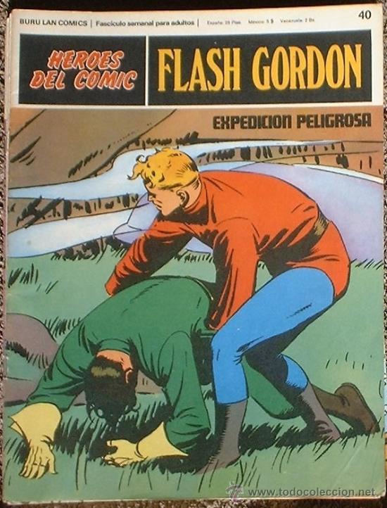 HEROES DEL COMIC - FLASH GORDON Nº 40 - EXPEDICIÓN PELIGROSA - BURU LAN COMICS 1972 (Tebeos y Comics - Buru-Lan - Flash Gordon)