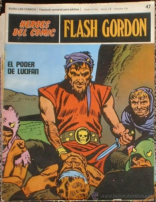 HEROES DEL COMIC - FLASH GORDON Nº 47 - EL PODER DE LUCIFAN - BURU LAN COMICS 1972 (Tebeos y Comics - Buru-Lan - Flash Gordon)