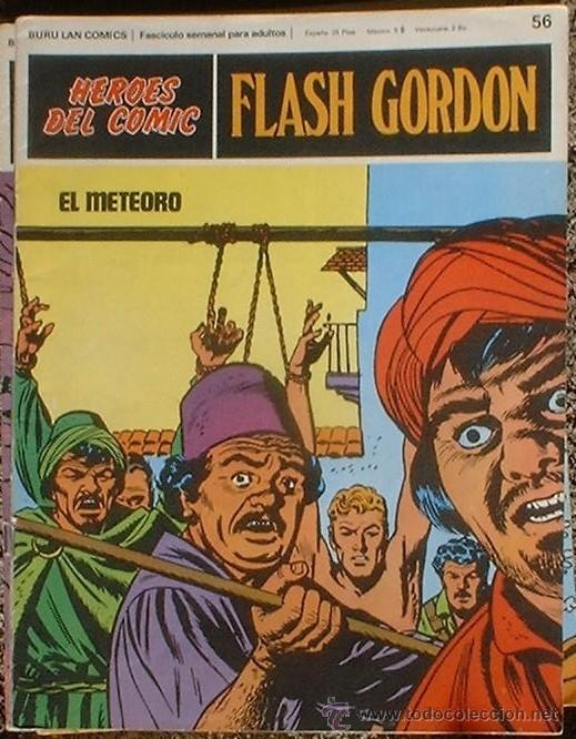 HEROES DEL COMIC - FLASH GORDON Nº 56 - EL METEORO - BURU LAN COMICS 1972 (Tebeos y Comics - Buru-Lan - Flash Gordon)