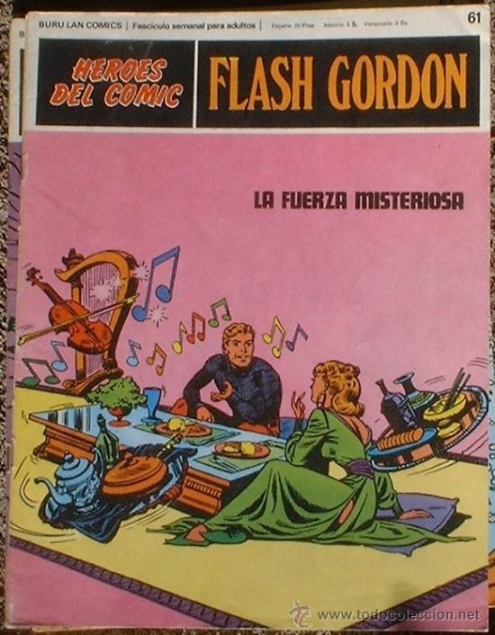 HEROES DEL COMIC - FLASH GORDON Nº 61 - LA FUERZA MISTERIOSA - BURU LAN COMICS 1972 (Tebeos y Comics - Buru-Lan - Flash Gordon)