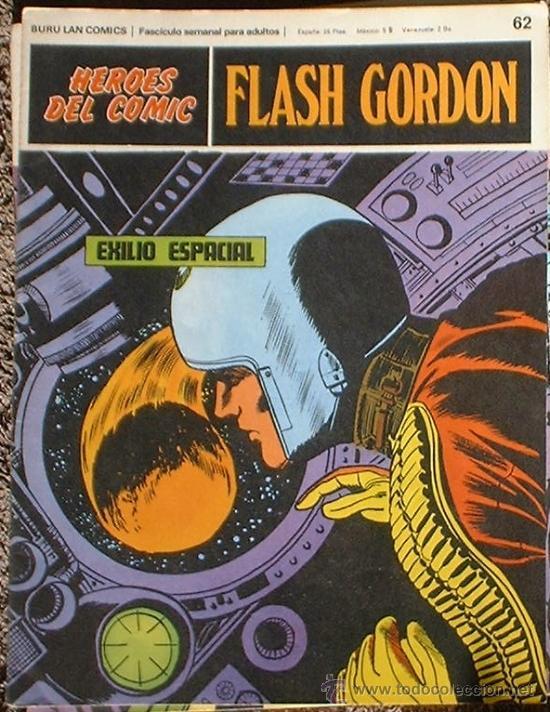 HEROES DEL COMIC - FLASH GORDON Nº 62 - EXILIO ESPACIAL - BURU LAN COMICS 1972 (Tebeos y Comics - Buru-Lan - Flash Gordon)