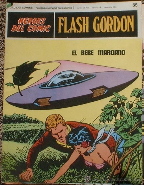 HEROES DEL COMIC - FLASH GORDON Nº 65 - EL BEBÉ MARCIANO - BURU LAN COMICS 1972 (Tebeos y Comics - Buru-Lan - Flash Gordon)