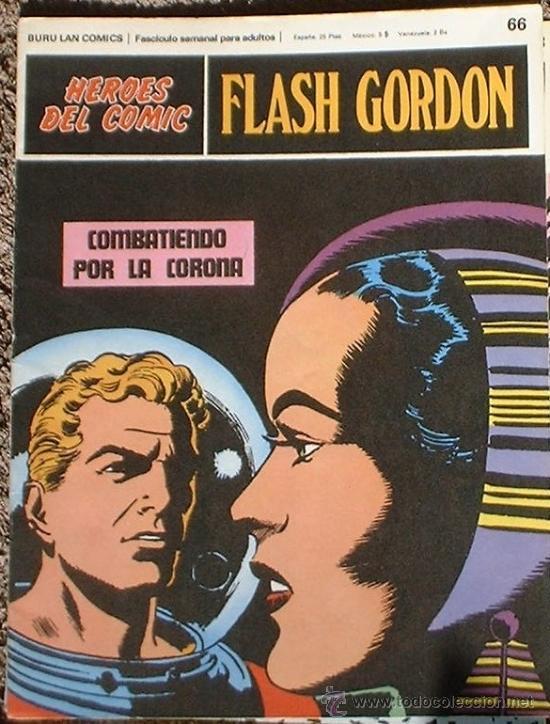 HEROES DEL COMIC - FLASH GORDON Nº 66- COMBATIENDO POR LA CORONA - BURU LAN COMICS 1972 (Tebeos y Comics - Buru-Lan - Flash Gordon)