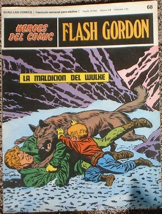 HEROES DEL COMIC - FLASH GORDON Nº 68 - LA MALDICIÓN DE WULKE - BURU LAN COMICS 1972 (Tebeos y Comics - Buru-Lan - Flash Gordon)