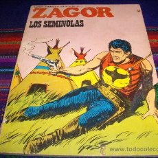 Cómics: ZAGOR Nº 53 LOS SEMINOLAS. BURU LAN 1973. 25 PTS. DIFÍCIL!!!!!!!!!!. Lote 37085870