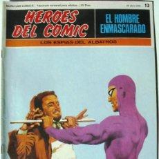 Cómics: EL HOMBRE ENMASCARADO - LOS ESPIAS DEL ALBATROS - Nº 13 - BURU LAN COMICS 1971 - HEROES DEL COMIC. Lote 38326342