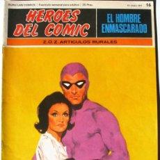 Cómics: EL HOMBRE ENMASCARADO - Z.O.Z. ARTICULOS RURALES - Nº 16 - BURU LAN COMICS 1971 - HEROES DEL COMIC. Lote 38326448
