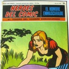 Cómics: EL HOMBRE ENMASCARADO - EL TESORO DEL HOMBRE ENMASCARADO - Nº 21 - BURU LAN COMICS 1971 . Lote 38326562