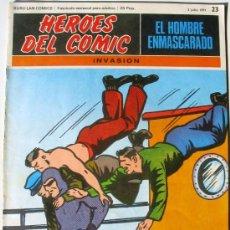Cómics: EL HOMBRE ENMASCARADO - INVASION - Nº 23 - BURU LAN COMICS 1971 - HEROES DEL COMIC. Lote 38326610