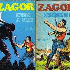 Cómics: ZAGOR NUMEROS 9 Y 10. RETORNO AL PASADO Y BUSCADORES DE ORO. Lote 38477464
