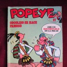 Cómics: POPEYE. Nº 27. COCOLISO SE HACE FAMOSO POR ZABOLY. BURU LAN 1972 . Lote 38573848