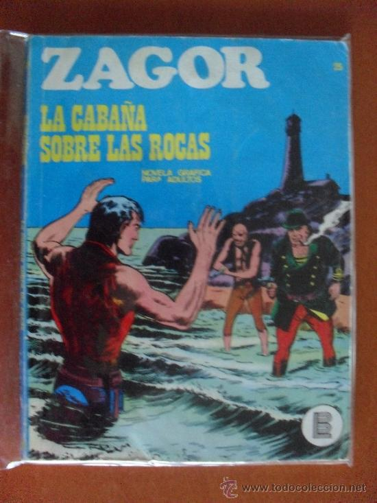 ZAGOR Nº 25 ** BURU LAN ** LA CABAÑA SOBRE LAS ROCAS (Tebeos y Comics - Buru-Lan - Zagor)