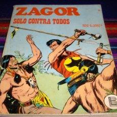 Cómics: ZAGOR Nº 45 SOLO CONTRA TODOS. BURU LAN 1972. 25 PTS. DIFÍCIL!!. Lote 39383181