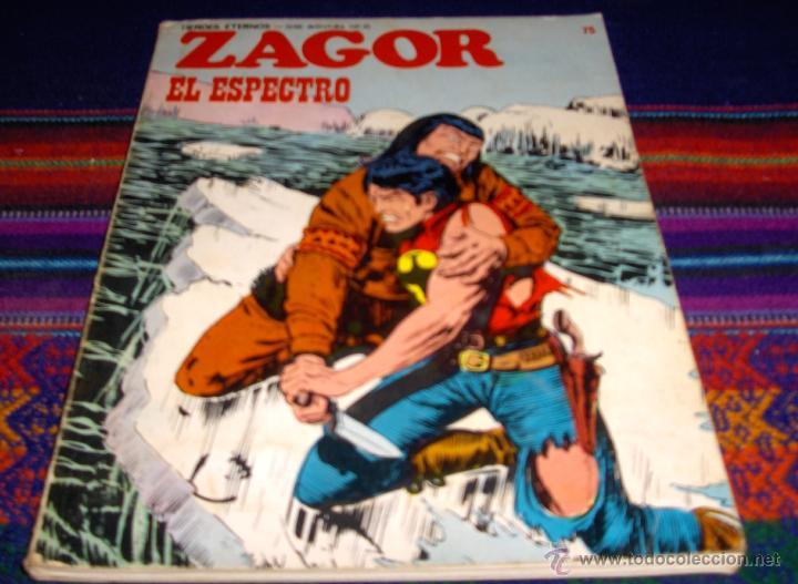 ZAGOR Nº 75 EL PENÚLTIMO. EL ESPECTRO. BURU LAN 1974 30 PTS. . MUY DIFÍCIL!!!!! (Tebeos y Comics - Buru-Lan - Zagor)