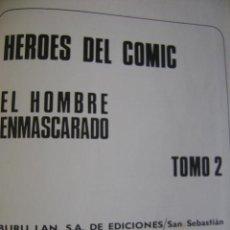 Cómics: TOMO 2 DE HÉROES DEL CÓMIC, EL HOMBRE ENMASCARADO, DE BURU LAN, 1971.. Lote 39401993