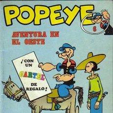 Cómics: POPEYE AVENTURA EN EL OESTE, BIBLIOTECA BURU LAN 1971, SIN CARTEL CENTRAL. Lote 39727106