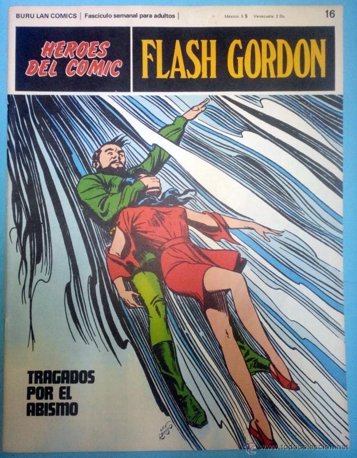 FLASH GORDON Nº 16 ''TRAGADOS POR EL ABISMO'' HÉROES DEL CÓMIC EDITORIAL BURU LAN (Tebeos y Comics - Buru-Lan - Flash Gordon)