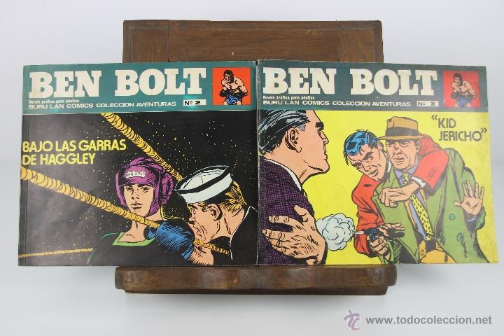 4122- BEN BOLT. LOTE DE 3 COMICS. EDIT. BURU LAN. AÑOS 70. (Tebeos y Comics - Buru-Lan - Otros)