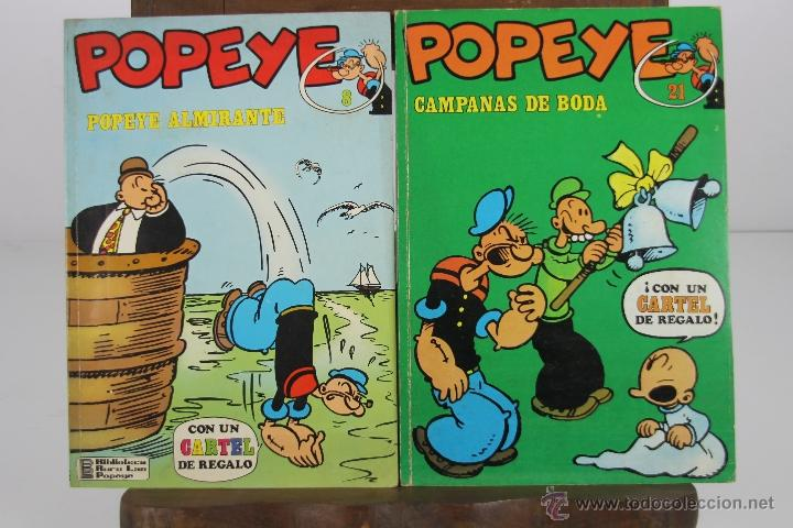 4140- POPEYE. LOTE DE 3 COMICS. EDIT. BURU LAN. AÑOS 70. (Tebeos y Comics - Buru-Lan - Popeye)