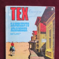 Cómics: TEX Nº 29. SANGRIENTO ATARDECER. BURULAN, 1972. BONELLI. BURU-LAN. Lote 41355902