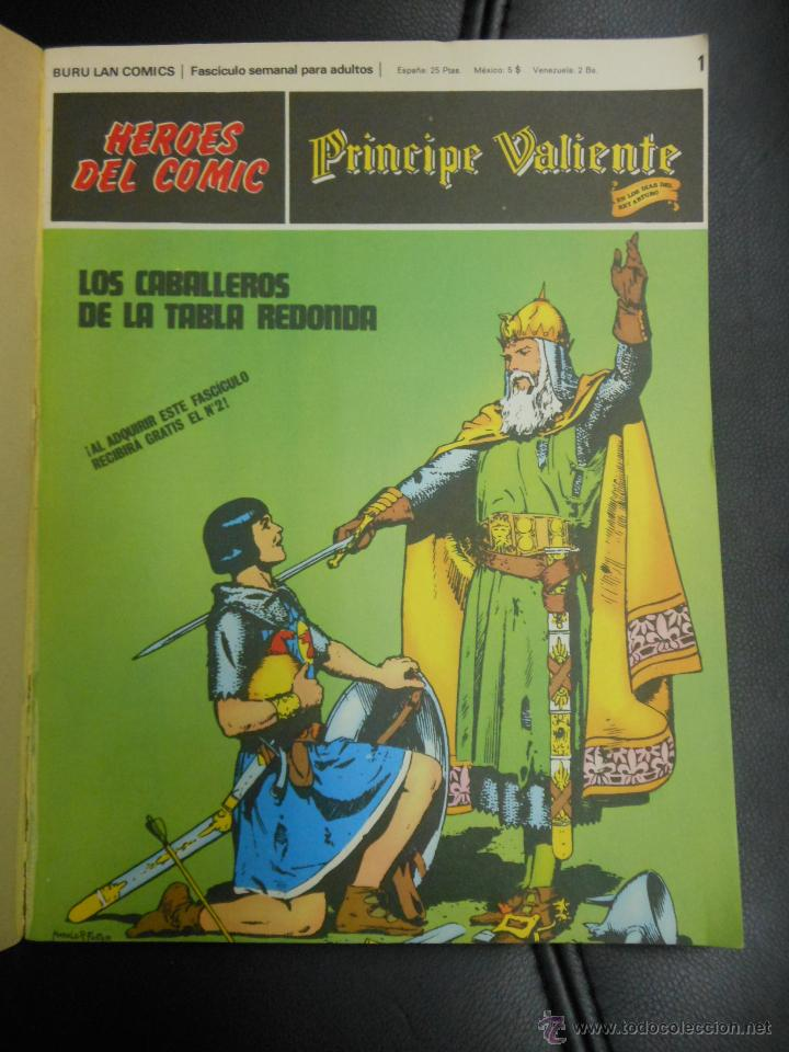 Cómics: PRINCIPE VALIENTE AVENTURAS COMPLETAS HEROES DEL COMIC TEBEO BURU LAN CON TAPAS - 6 NUMEROS - Foto 2 - 41671339
