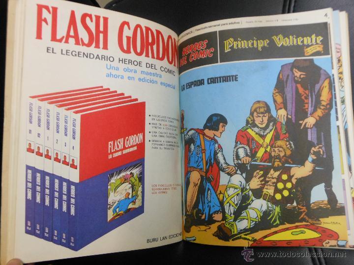 Cómics: PRINCIPE VALIENTE AVENTURAS COMPLETAS HEROES DEL COMIC TEBEO BURU LAN CON TAPAS - 6 NUMEROS - Foto 3 - 41671339