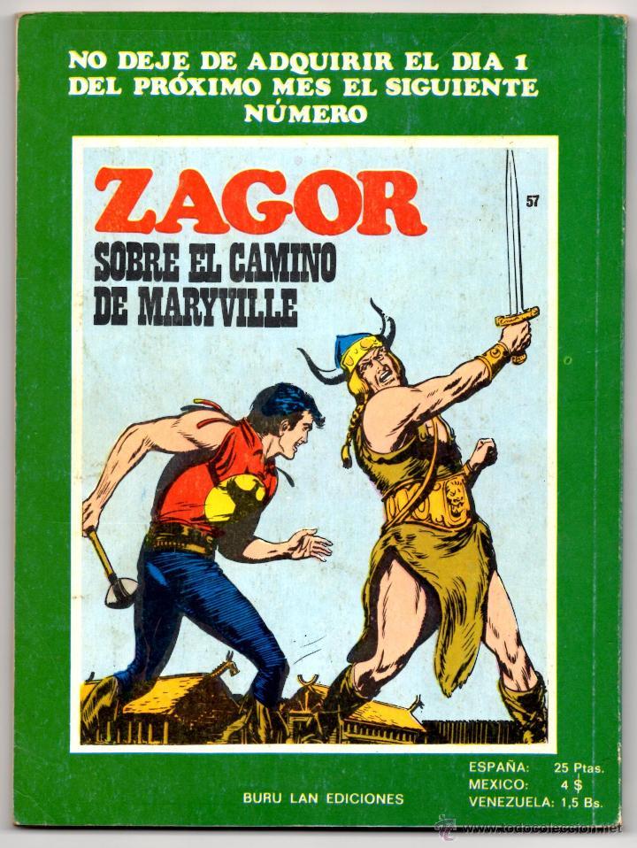 Cómics: ZAGOR nº 56 Contraportada - Foto 3 - 42275288