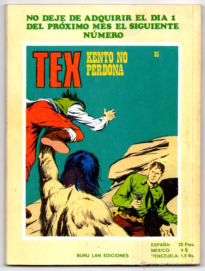 Cómics: Tex nº 84 Contraportada - Foto 3 - 42372651