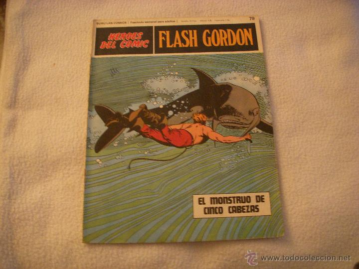 HEROES DEL COMIC, FLASH GORDON Nº 79, EDITORIAL BURULAN (Tebeos y Comics - Buru-Lan - Flash Gordon)