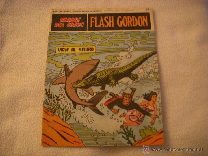 HEROES DEL COMIC, FLASH GORDON Nº 64, EDITORIAL BURULAN (Tebeos y Comics - Buru-Lan - Flash Gordon)