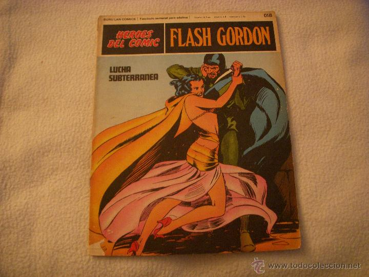 HEROES DEL COMIC, FLASH GORDON Nº 018, EDITORIAL BURULAN (Tebeos y Comics - Buru-Lan - Flash Gordon)