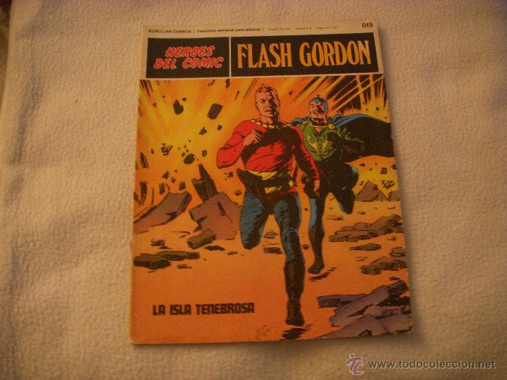 HEROES DEL COMIC, FLASH GORDON Nº 019, EDITORIAL BURULAN (Tebeos y Comics - Buru-Lan - Flash Gordon)