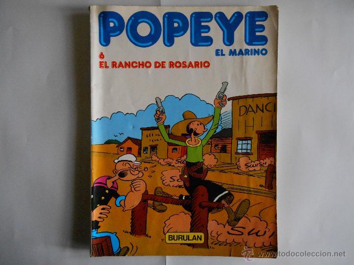 POPEYE Nº 6 EL RANCHO DE ROSARIO.1983 (Tebeos y Comics - Buru-Lan - Popeye)