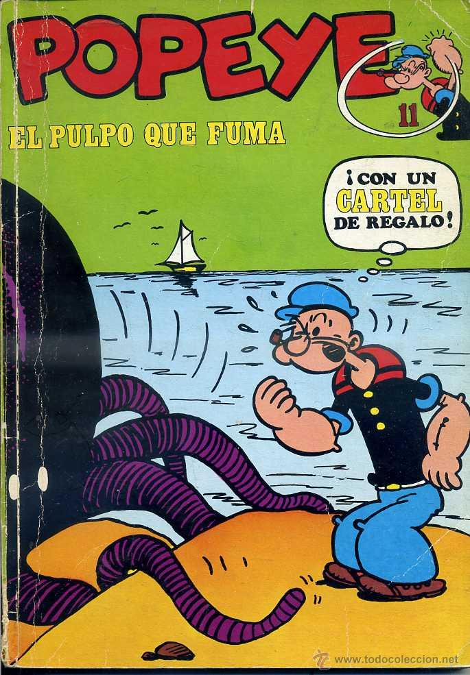 POPEYE Nº 11 - EL PULPO QUE FUMA : (Tebeos y Comics - Buru-Lan - Popeye)