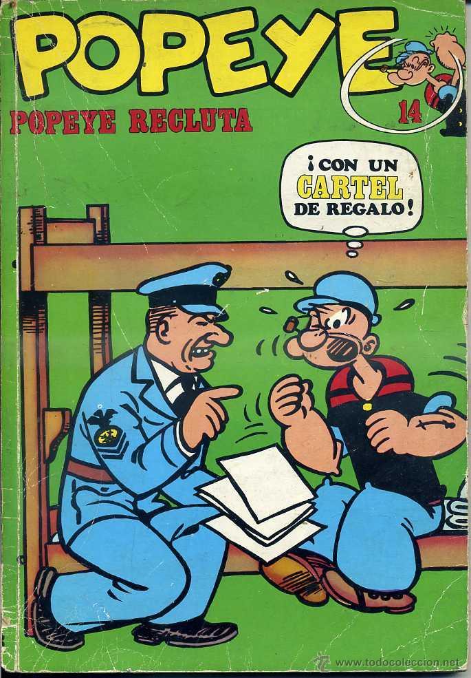 POPEYE Nº 14 - POPEYE RECLUTA (Tebeos y Comics - Buru-Lan - Popeye)