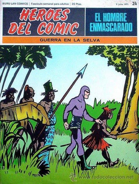 EL HOMBRE ENMASCARADO Nº 24 (1971) (Tebeos y Comics - Buru-Lan - Hombre Enmascarado)