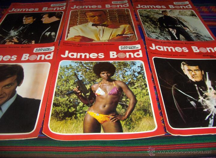 JAMES BOND NºS 1, 2, 3, 4, 5 Y 6. BRURU LAN 1974. 30 PTS. (Tebeos y Comics - Buru-Lan - James Bond)