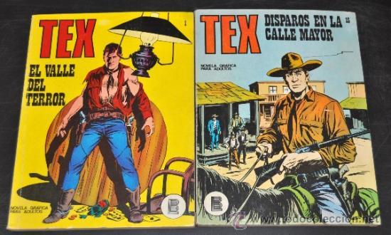 LOTE DE 2 TEX Nº 1 Y 15 EDICIONES BURU LAN, S.A 1971 (Tebeos y Comics - Buru-Lan - Tex)