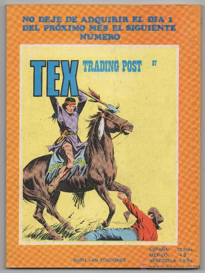 Cómics: Tex nº 86 Contraportada - Foto 3 - 45986209