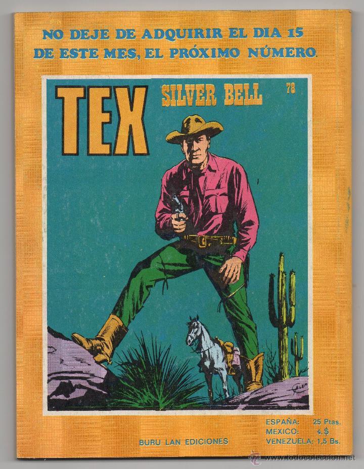 Cómics: Tex nº 77 Contraportada - Foto 3 - 45986267