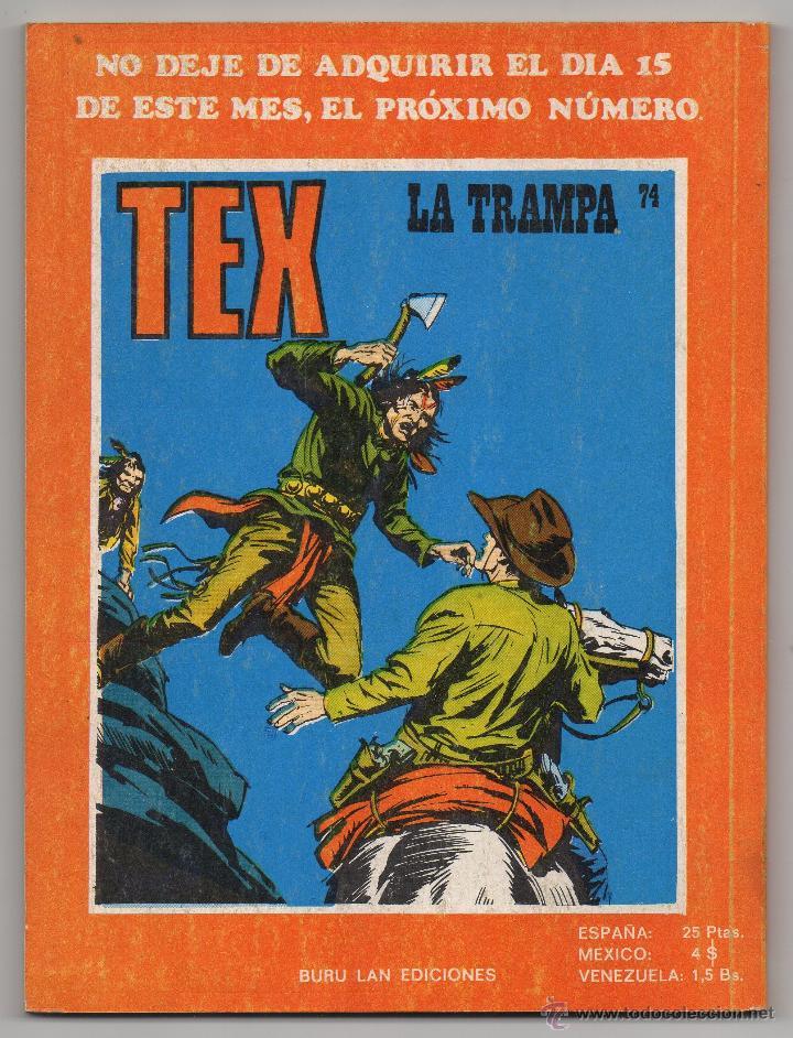 Cómics: Tex nº 73 Contraportada - Foto 3 - 45986283
