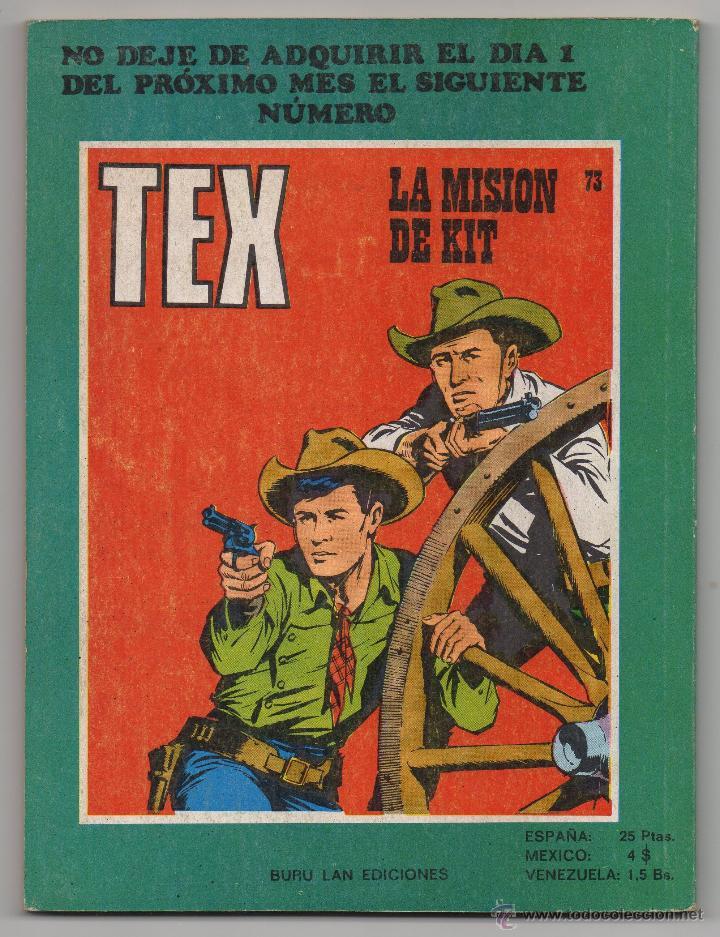 Cómics: Tex nº 72 Contraportada - Foto 3 - 45986290