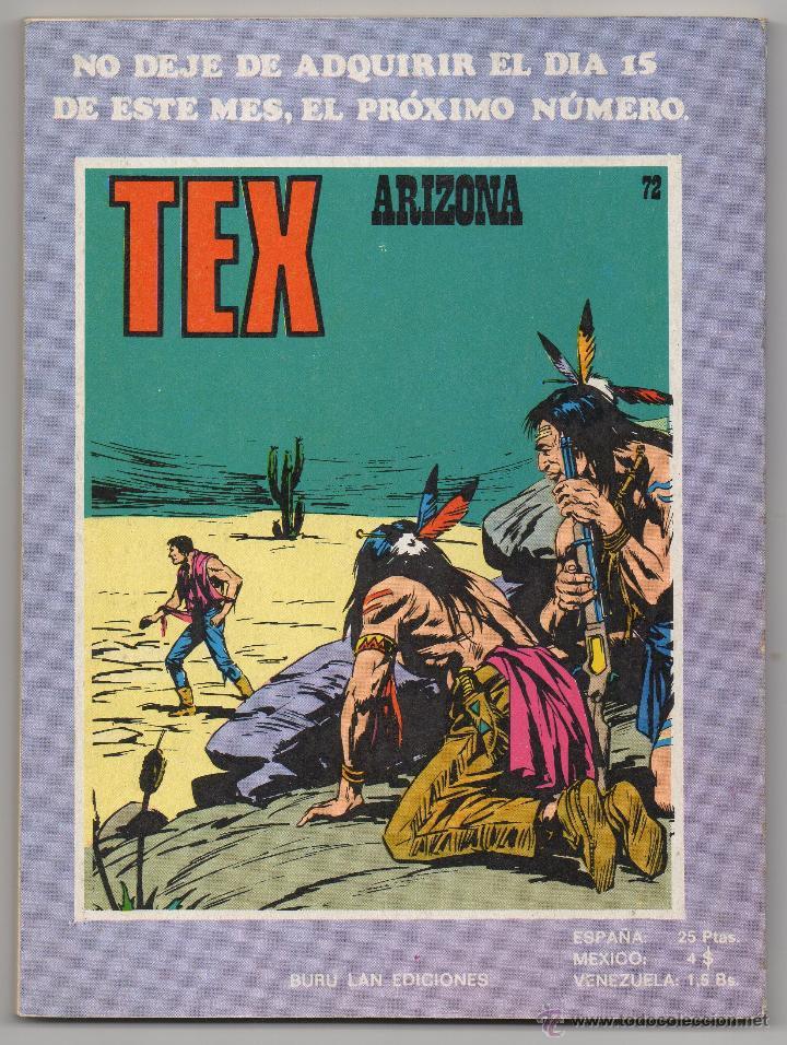 Cómics: Tex nº 71 Contraportada - Foto 3 - 47022773