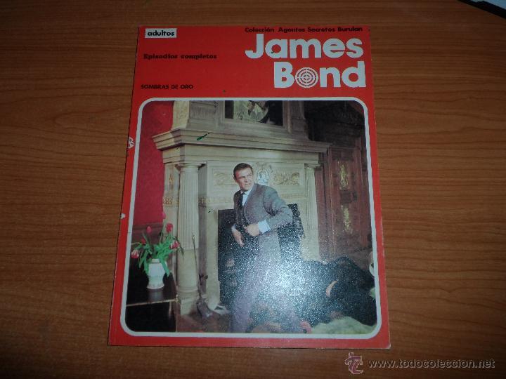 JAMES BOND ALBUM Nº 2 SOMBRAS DE ORO EDITORIAL BURULAN 1974 BURU LAN (Tebeos y Comics - Buru-Lan - James Bond)