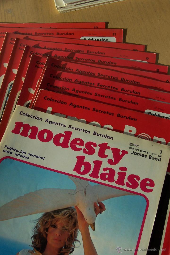 BURU LAN AGENTE SECRETO, MODESTY BLAISE Nº 1 Y JAMES BOND DEL Nº 1 AL 12 (Tebeos y Comics - Buru-Lan - James Bond)