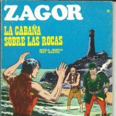 Cómics: ZAGOR NÚMERO 25: LA CABAÑA SOBRE LAS ROCAS EDITORIAL BURU LAN. Lote 48429483