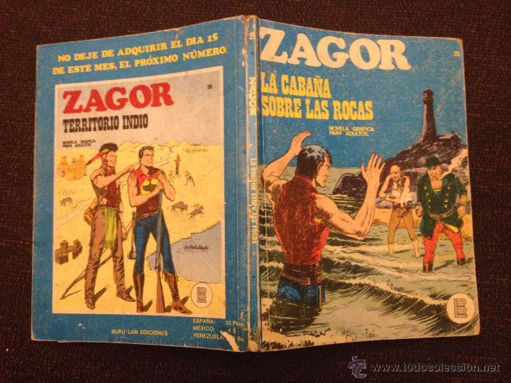 Cómics: BURU LAN - ZAGOR - NÚMERO 25 - LA CABAÑA SOBRE LAS ROCAS - Foto 2 - 48590302
